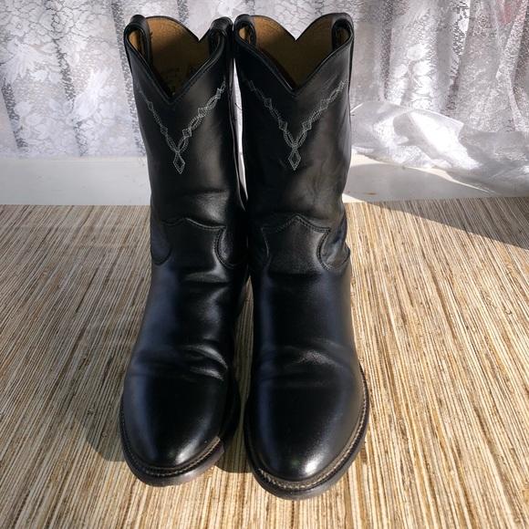 e101a7dd5f7 Justin Men's Black Classic Roper Boots